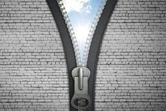 Zipper aberto Imagem de Stock