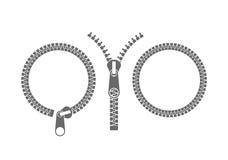 Zipper. Abstract zipper. Vector illustration EPS Royalty Free Stock Photo