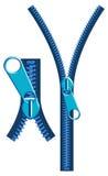 Zipper ajustável fecho de correr isolado Imagem de Stock Royalty Free