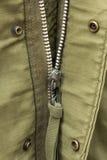 Zipper av militärt enhetligt Royaltyfria Foton