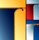 Zipper backdrop Royalty Free Stock Photos
