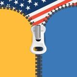 Zipper background Stock Photo