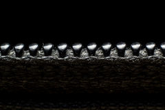 Zipper background Stock Images