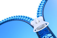 Zipper. Background with zipper. Hi-res digitally generated image Stock Photography
