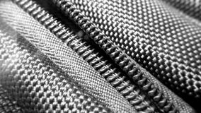 Zipper of a  backpack fabric synthetic texture Stock Photos