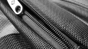Zipper of a  backpack fabric synthetic texture Royalty Free Stock Photography