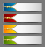 Zipper banners Royalty Free Stock Photo