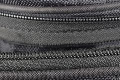 Zipper on black background royalty free stock photography