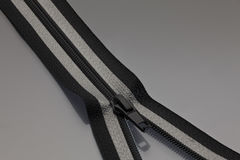 Zipper in black and gray Royalty Free Stock Images