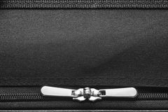 Zipper on black Stock Image