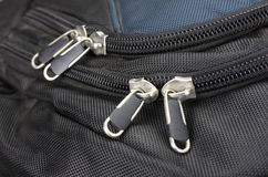 Zipper and buckle on a backpack. Royalty Free Stock Photos