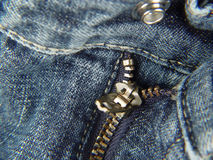 Zipper and Button - Fly. Photo of Pants Zipper and Button royalty free stock image