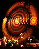 Zipper Carnival ride. A carnival ride the Zipper is an awesome photo in the night royalty free stock images