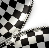 Zipper, checkered Imagem de Stock Royalty Free