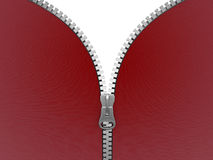 Zipper (clipping path included) Royalty Free Stock Images