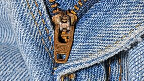 Zipper close up Royalty Free Stock Images