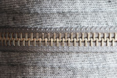 Zipper close up Royalty Free Stock Image