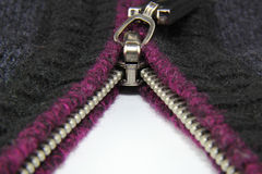 Zipper on clothes Royalty Free Stock Photography