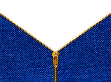 Zipper on clothing royalty free stock photos