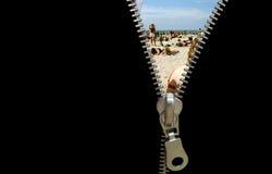 Zipper concept Royalty Free Stock Photos