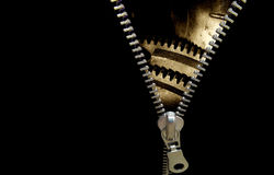 Zipper concept Royalty Free Stock Photography