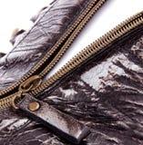 Zipper de Brown aberto Imagens de Stock