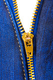 Zipper on clothing Stock Photography