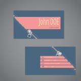 Zipper design business card Stock Photography
