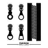 Zipper design Royalty Free Stock Image