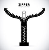 Zipper design Stock Images