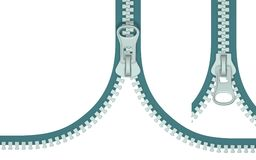 Zipper (Draufsicht) Stockfoto