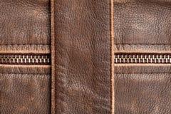 Zipper e couro Imagens de Stock