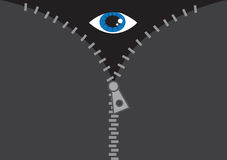 Zipper Eye Stock Photo