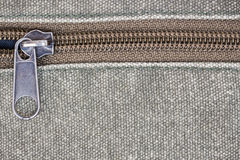 Zipper on fabric texture Stock Photography