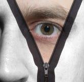 Zipper face Stock Image