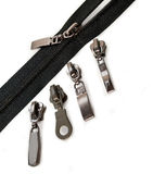Zipper with four sliders Stock Photo