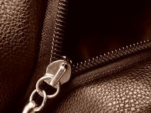 Zipper fragment Royalty Free Stock Photos