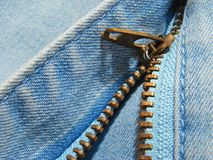 Zipper fragment Royalty Free Stock Photography