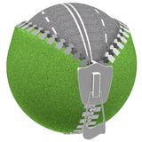 Zipper frame with grass. Royalty Free Stock Photo