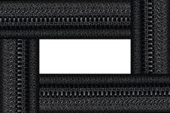 Zipper frame for pattern Stock Photography