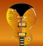 Zipper Guitar Royalty Free Stock Images