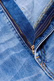 Zipper jeans Royalty Free Stock Photos