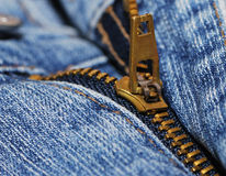 Zipper of a jeans Stock Photography