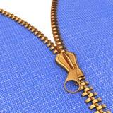 Zipper on jeans Stock Photo