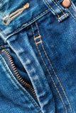 Zipper jeans. Denim Texture stock image