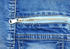 Zipper on jeans Royalty Free Stock Photography
