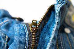 Zipper on jeans Stock Photography