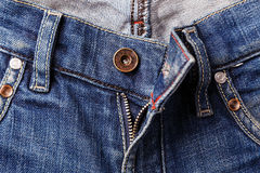 A zipper on jeans royalty free stock image