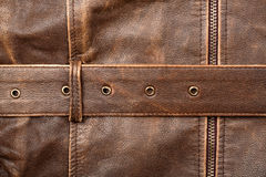 Zipper and leather Royalty Free Stock Photos