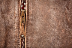 Zipper and leather Royalty Free Stock Image